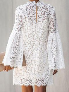 lace fashion Sexy lace high neck two-pieces shift dresses - ClothingI African Lace Dresses, Latest African Fashion Dresses, Lace Dress Styles, Dress Outfits, Fashion Outfits, Long Sleeve Evening Dresses, Mode Inspiration, Classy Dress, Mode Style
