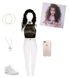 """""""Untitled #573"""" by vgrenalde ❤ liked on Polyvore featuring Boohoo, NIKE and Roberto Coin"""