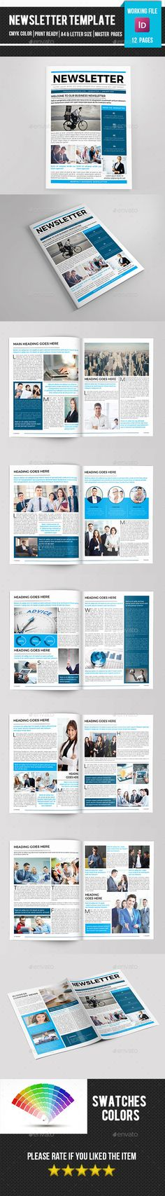 Corporate Newsletter-V06 Print templates, Printing and - company newsletter template free
