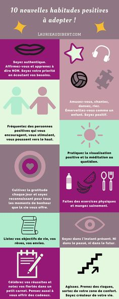 Motivation Quotes : 10 nouvelles habitudes positives à adopter ! - About Quotes : Thoughts for the Day & Inspirational Words of Wisdom Attitude Positive, Positive Vibes, Positive Quotes, Vie Positive, Psychology Books, Psychology Facts, Psychology Experiments, Health Psychology, Trauma