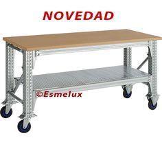NOVEDAD Mesas de Trabajo desmontables, con estructura super robusta. Especial Pesos Pesados, gran resistencia.  http://www.esmelux.com/mesas-de-trabajo-pesos-pesados-dm