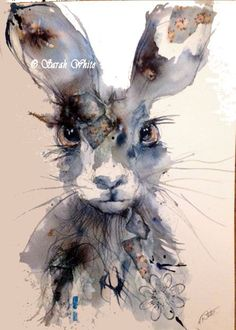 Original Indigo Hare by ArtbySarahWhite on Etsy