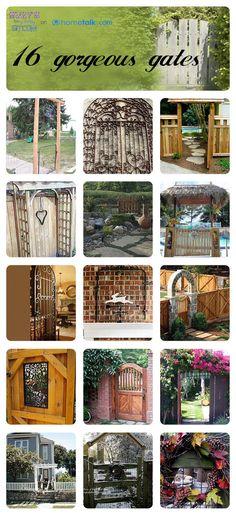 Beautiful Gates Idea Box by Susan Myers 16 Gorgeous Garden Gate Ideas! Backyard Projects, Outdoor Projects, Garden Projects, Garden Gates And Fencing, Gate Design, Garden Structures, Beautiful Gardens, Beautiful Gorgeous, Dream Garden