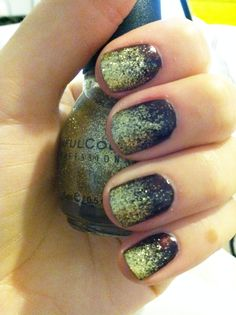 SUPER easy glitter gradient manicure. everyone should try!