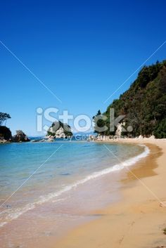 Outgoing Tide, Stephen's Bay, Kaiteriteri, NZ Royalty Free Stock Photo Abel Tasman National Park, Seaside Towns, Turquoise Water, Image Now, How To Be Outgoing, National Parks, Royalty Free Stock Photos, World, Beach