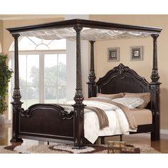Jensen Deep Merlot Canopy Bed | Overstock.com Shopping - The Best Deals on Beds