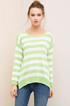Stripe Sweater Top