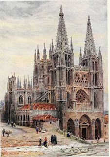 Catedral de Burgos-Cathedral cities of Spain William Wiehe Collins Cathedral City, Barcelona Cathedral, Church Pictures, Arte Horror, Spain And Portugal, Gothic Art, Andalucia, Architecture Details, Scenery