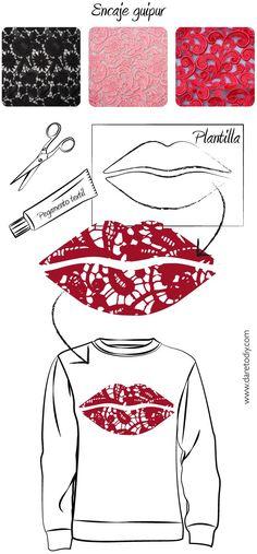 """Normal y """"Corriente""""... El blog para mujeres con Chispa*: Decora tu jersey                                                                                                                                                                                 Más"""