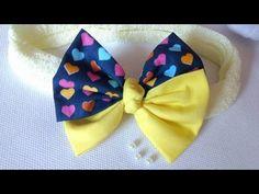 Laço de tecido duplo no bico de pato - YouTube