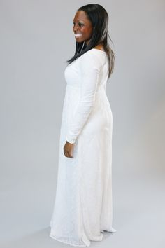 Q.Noor LDS Temple Dress Elaine