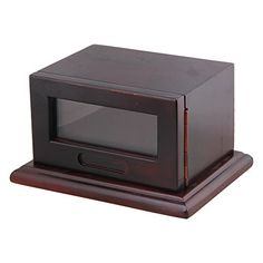 BQLZR 180x138x100mm Dark Brown Wooden Removable Photo Frame Dog Cat Pet Cremation Urn Memorial Box ** See this great product.