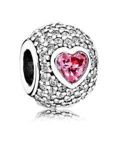 3efd17c9c Pandora UK Captivating Pave Heart Charm 791815czs Charms Pandora, Pandora  Uk, Cheap Pandora,