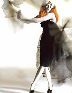 Karen Elson by Nick Knight for Vogue UK. Red hair and alabaster skin!!!!