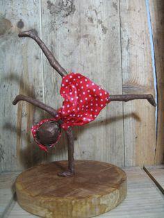 Girl doing a Cartwheel. Sculpture of girl. by Stephaniessculptures, £25.00