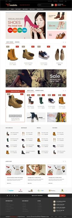 Matida is a wonderful responsive #Opencart theme for stunning #shoe #footwear store #eCommerce website with 8 unique homepage layouts download now➩ https://themeforest.net/item/matida-multipurpose-responsive-opencart-theme/19448157?ref=Datasata