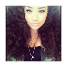#pretty #girl #curly #hair #swag #dope #tumblr ❤ liked on Polyvore featuring beauty products, haircare, hair and curly hair care