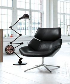 Jehs + Laub Shrimp Armchair With Footstool
