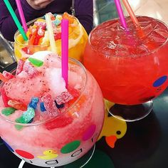 Drinks from Sugar Factory in Las Vegas, Nevada!