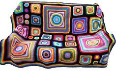Uncinetto afghano arcobaleno caleidoscopio di CrochetKaleidoscope