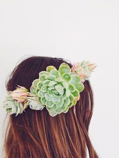 succulent and protea flower crown I love this!! #lisakrhb #lisakathleenraines #bhamlashes http://www.lisakathleenraines.com http://www.bhamlashes.com