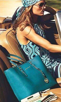 Aqua Michael Kors purse!  Aqua is so spring/summer!