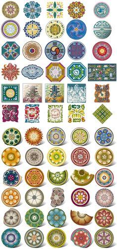 전통문양 : 네이버 블로그 Korean Art, Korean Traditional, Decorative Plates, Chinese, Culture, Interior, Pattern, Inspiration, Design