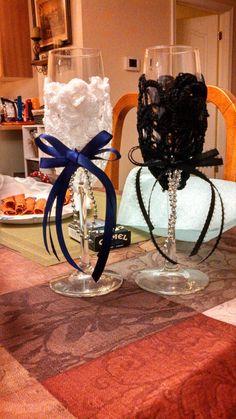 Wedding glasses grandma Murphy made for us :)