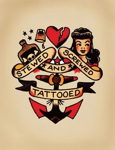 Nick likes this Sailor Jerry inspired tattoo.