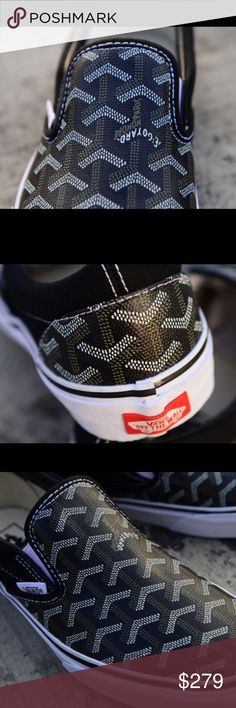 Goyard Vans- Custom- extremely fashionable Your custom Goyard vans are ones to die for! If you don't like compliments, these truly aren't for you. Watch how many people ask you where you got them. All we ask is that you refer us. Goyard Shoes Sneakers