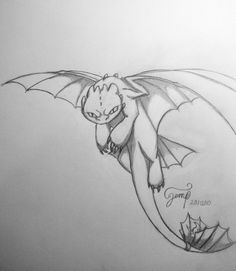"""Cool drawing of Toothless, who looks like, """"I'm watching you!"""""""