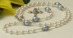 Baby Boy Baptismal Rosary  Christening Rosary by HeavenlyHandsMade, $28.00