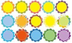 꽃이름표 / 어린이집 이름표 / 게시판 제목 : 네이버 블로그 Party Time, Clip Art, Education, Blog, Pictures, Stickers, Printable Labels, Photos, Blogging