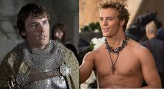 Now: Sam Claflin as Finnick Odair in The Hunger Games: Catching Fire. Claflin has had parts in Pirates of the Caribbean and Snow White and the Huntsman . Claflin says that he received flak from The Hunger Games fans who were upset over him playing Finnick. But judging from the picture, Claflin is going to have no problem playing the sexy ally to Katniss.