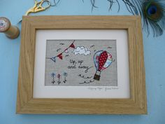 Handmade Hot Air Balloon Framed Picture with choice of frame Cath Kidston fabric | eBay