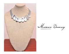 Collar/Necklace RENATA PLATA #shine #style #fashion #collection #leather #maisondomecq #woman