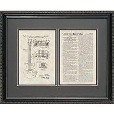 Electric Guitar Patent Art Framed Print