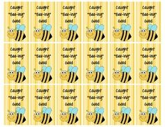 """Brag tags are used to reward students for positive behavior. This """"Caught 'Bee-ing' Good"""" tag can be given for lots of different reasons. I punch a hole in the top and attach a chain so that my students can hang them from their back packs. They absolutely love them!"""