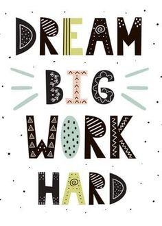 Scandinavian Style, Logo Infantil, Cute Motivational Quotes, Brave, Little Doodles, Hand Drawn Lettering, Nursery Prints, Journal Cards, Dream Big