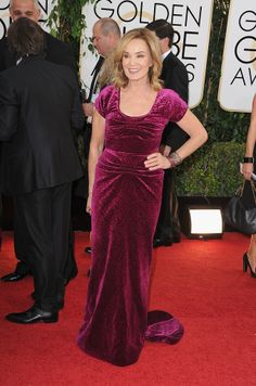 WTF, she's just so crazypants: Jessica Lange at the Golden Globes.