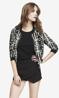 AZTEC SOFT BOMBER JACKET from EXPRESS