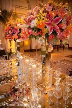 decoração casamento rosa e laranja - Pesquisa Google