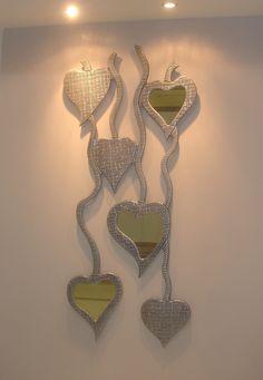 .-Δείγμα απ τη μεγαλύτερη  γκάμα χειροποίητων καθρεφτών στην Ελλάδα. .-Το σύνολο μπορείτε να το δείτε στο/// www.x-esio.gr Diamond, Jewelry, Home, Mirror, Jewlery, Jewerly, Schmuck, Diamonds, Jewels