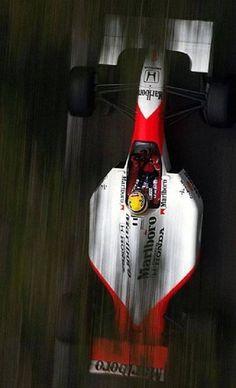 Ayrton Senna l McLaren Honda Formula 1 Car, Mclaren F1, F1 Drivers, Automotive Art, F1 Racing, Indy Cars, Car And Driver, Vintage Racing, Car Car