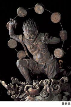 雷神像(三十三間堂)Raijin : The god of Thunder [ Sanjūsangen-dō ] Around 1300?