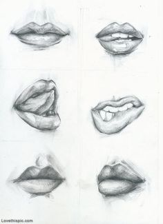 Lip Drawings sexy kiss lips art drawing sketches