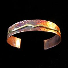 Canal Fulton Glassworks - Jewelry Class - Hammered Cuff Bracelet.