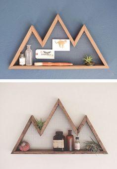 reclaimed wood mountain shelves