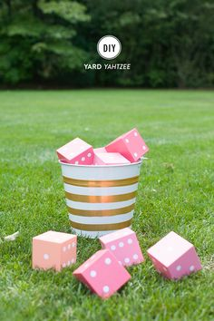 Who doesn't love Yahtzee!? We just supersized ours so that guests could play on the lawn while enjoying a cocktail. We used 3.5″ wooden cubes adding traditional dice dots to each using round Avery labels, then sealed them with all weather sealant so that we could enjoy them for years. It's fun, it's crazy simple […]