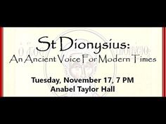 Lecture on St Dionysius the Areopagite by Bishop ALEXANDER (Golitzin)